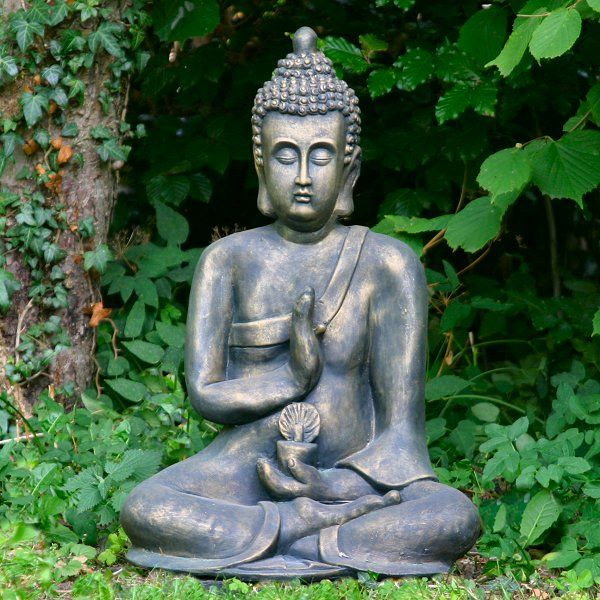 garden statues Bronze Effect Thai Buddha Garden Statue Large