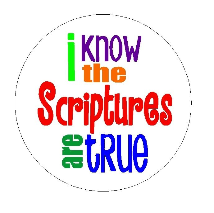I Know the Scriptures Are True bottle cap printable for necklace or Zipper pull