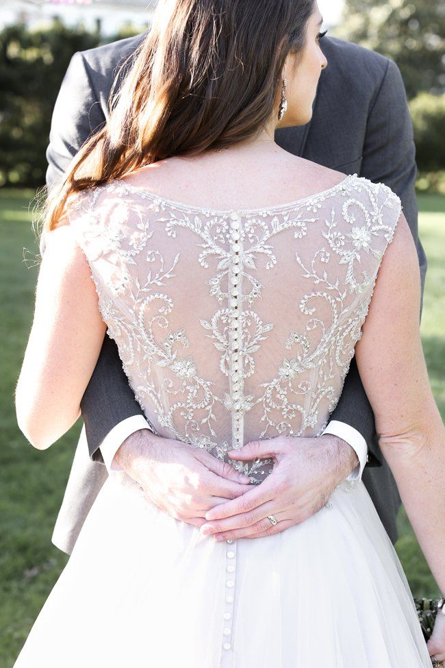 Gorgeous beaded & lace back wedding dress   Vanessa Smith Photography   see more at http://fabyoubliss.com