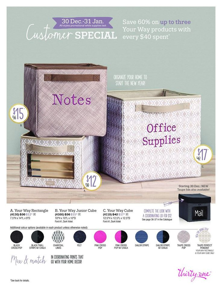 Great Thirty one Customer specials for January, 2016!