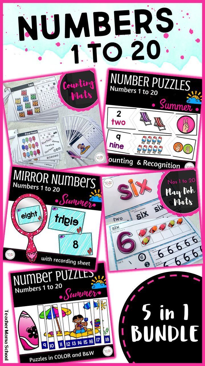 numbers 1 to 20 activities | counting | number recognition | This is a BUNDLED pack of our NUMBERS 1 TO 20 ACTIVITY PACKS! The contents in this bundle are the same as the ones in the individual packs – but at a GREAT DISCOUNTED PRICE! Please take note that this bundle is comprised of all FOUR (plus a FREEBIE) of my other resources on numbers 1 to 20.
