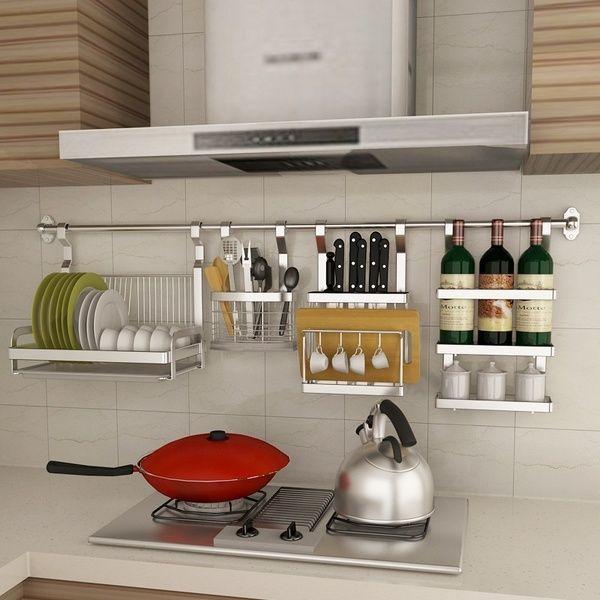 Wish Kitchen Storage Shelf Wall Hanging Organizer Rack For