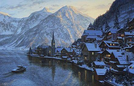 """Hallstatt"" -- a painting by Evgeny (Eugene) Lushpin."