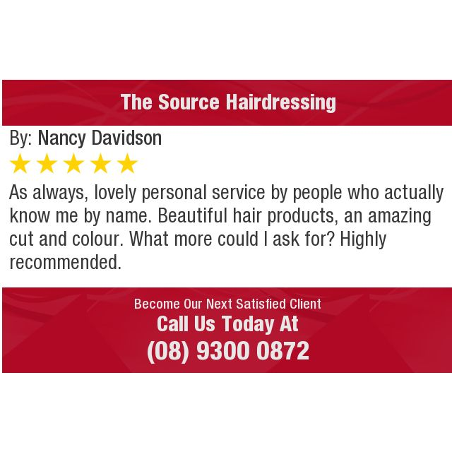 As always, lovely personal service by people who actually know me by name. Beautiful hair...