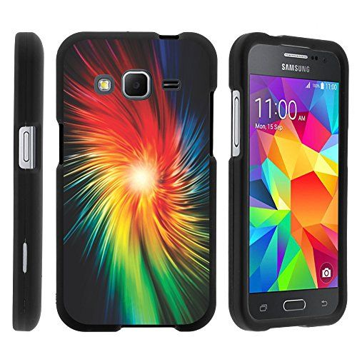 Buy Samsung Galaxy Core Prime, Hard Snap On Protective Cover with Creative Graphic Image for Samsung Galaxy Core Prime G360 (Boost Mobile) from MINITURTLE | Includes Clear Screen Protector and Stylus Pen - Rainbow Vortex NEW for 9.99 USD | Reusell