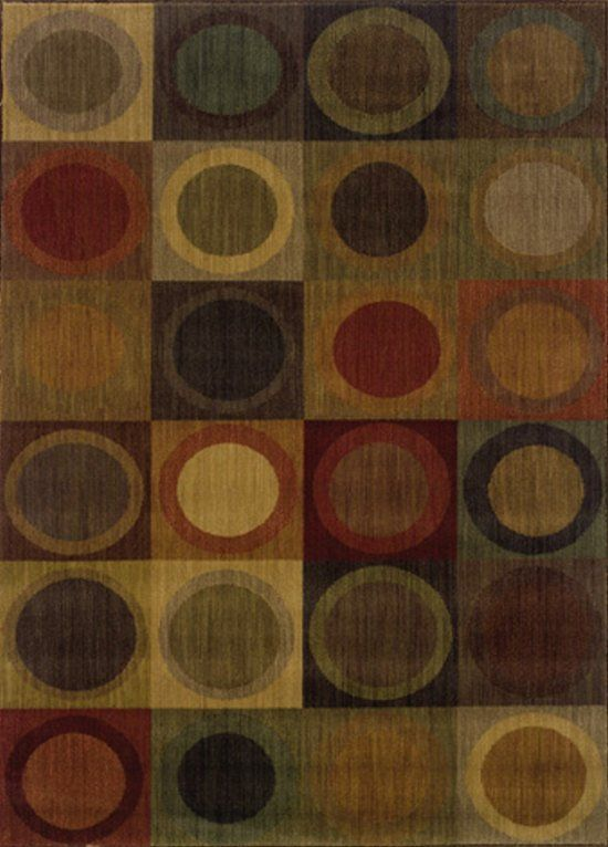 Allure 0053A Collection Circles Contemporary Nylon Area Rug   Sphinx By  Oriental Weavers | Rugs By