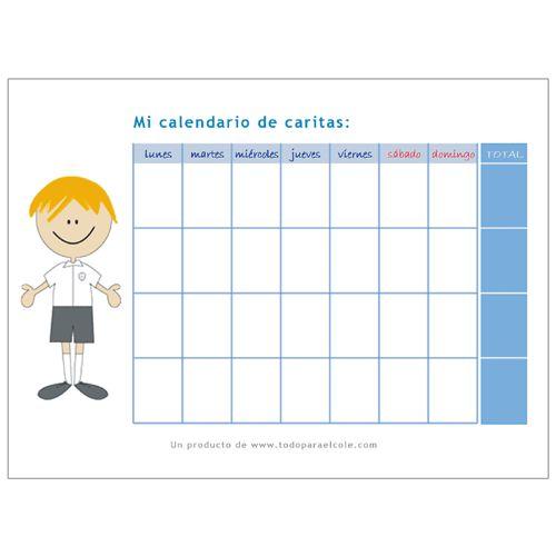 Pizarra calendario caritas  Calendario comportamiento nios  Da de las madres  Tablero de