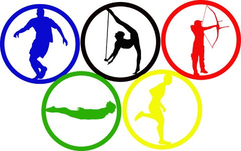 There are five rings in the Olympic symbol. The five interlocking ...