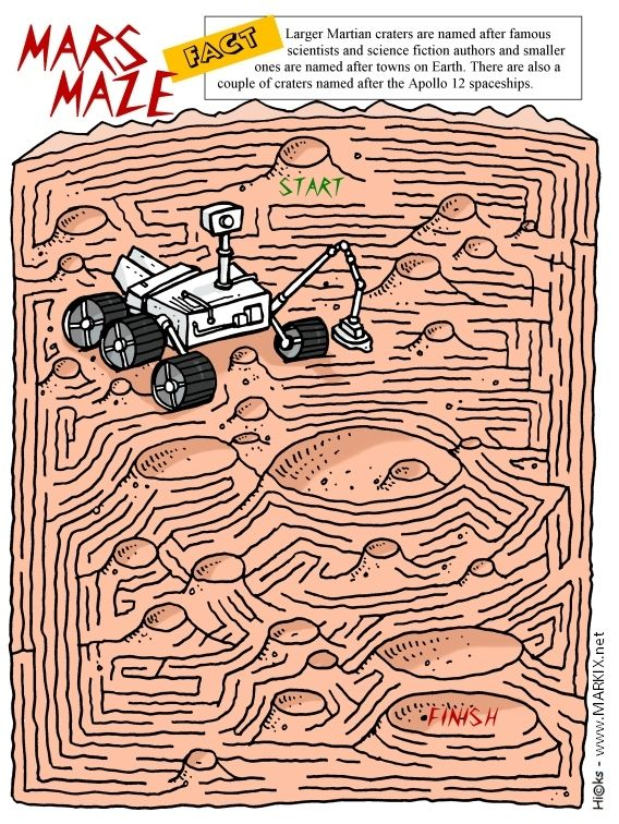 Printable Mars Rover Maze Activity For Kids
