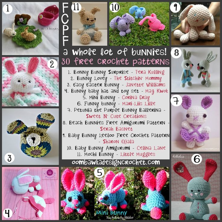 whole lot of bunnies - free crochet patterns