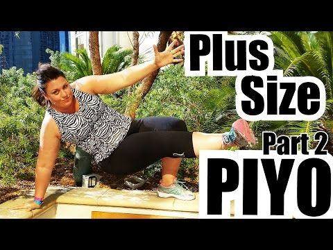 Plus Size PIYO - Modify Part 2 - Weightloss - YouTube