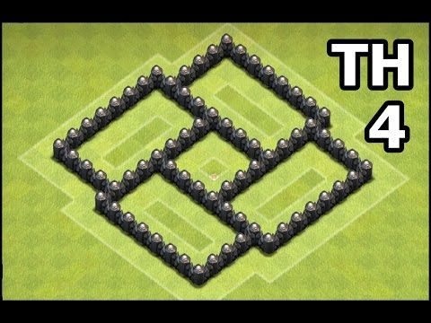 Clash of Clans Town Hall 4 Farming Base Speed Build | Best CoC TH4 Defense - YouTube
