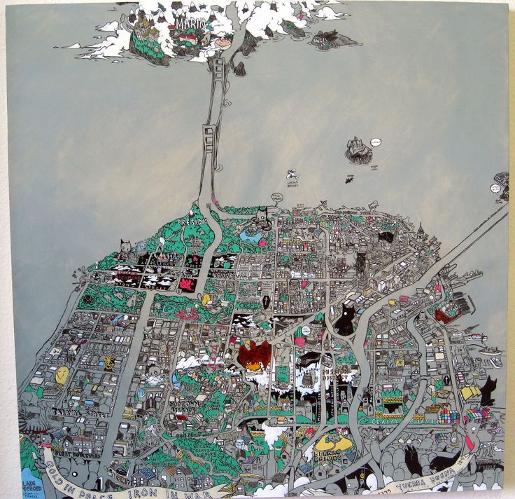 San Francisco Map Ritz Carlton%0A Deth P  Sun  Secret Histories Map of San Francisco