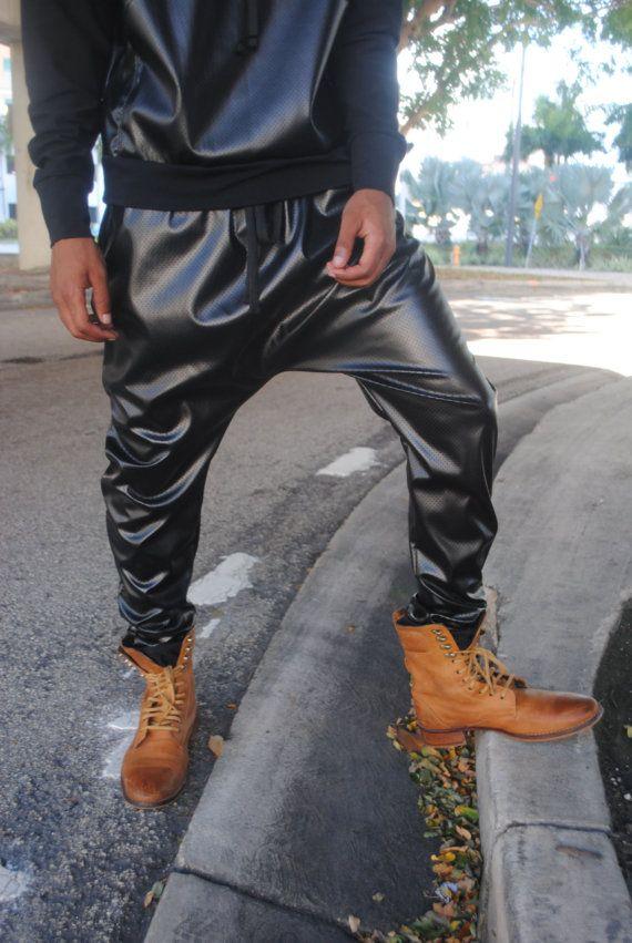 Mens Black Wax Jeans