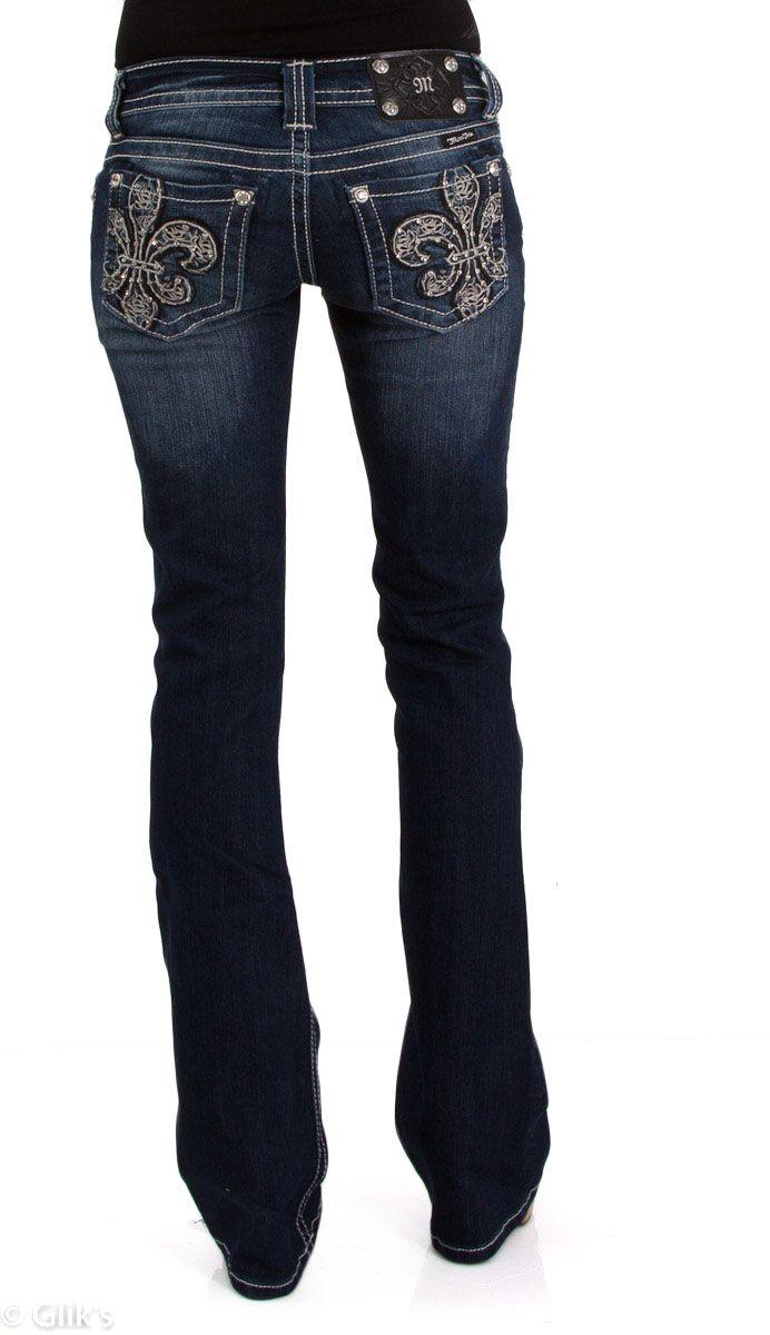 Plus Size Miss Me Jeans | Miss Me Jeans Leathered Fleur De Lis Bootcut Sizes 25 - 34 JP6126B