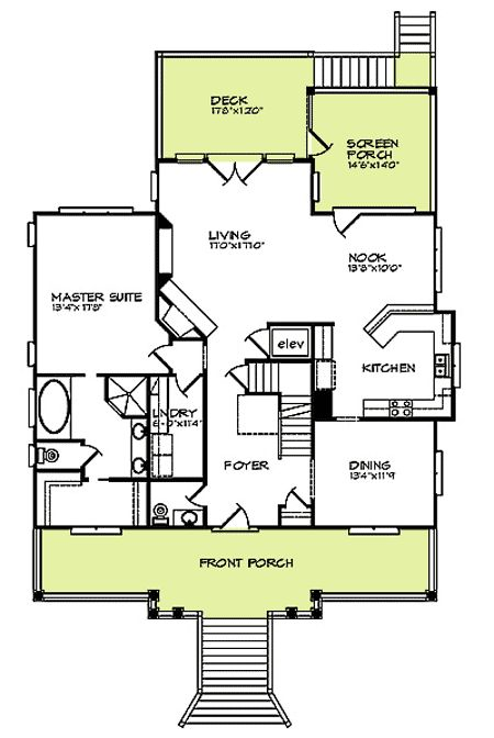 House plans elevator and country on pinterest for House plans with elevator