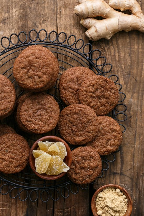Triple Ginger Snap Cookies - Crispy and full of spicy ginger flavor.