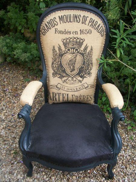 grain sac backing for upholstered chair