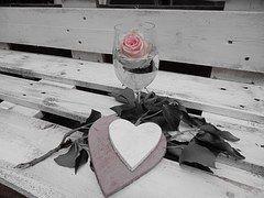 Coração, Rosa, Taça De Champanhe