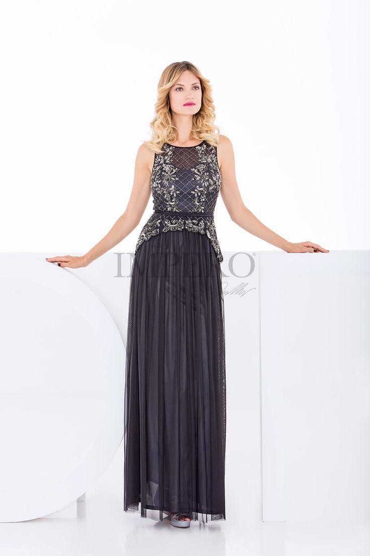 SLD 11694 #abiti #dress #wedding #matrimonio #cerimonia #party #event #damigelle #nero #black