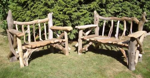 Driftwood garden furniture - and re-purposing vintage pieces into wonderful!
