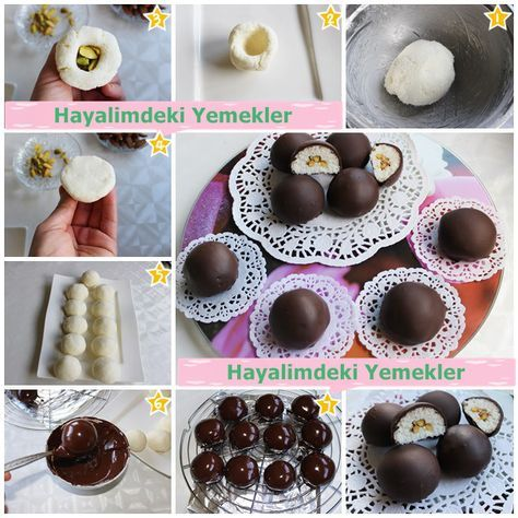 Çikolata Kaplı Hindistan Cevizi Topları