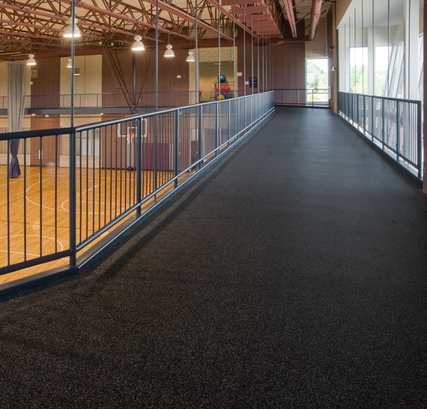 Commercial Rubber Flooring : Everlast sports surfacing with nike grind ecore commercial