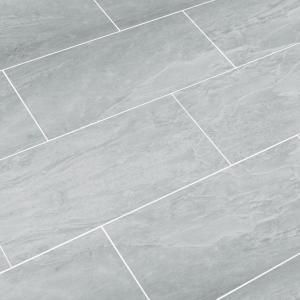 snapstone oyster grey 12 in x 24 in porcelain floor tile 8 sq ft case - Bathroom Floor Tiles