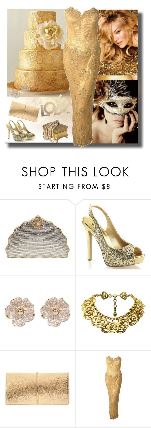 """""""Birthday Series Finale Cake"""" by sheri-gifford-pauline ❤ liked on Polyvore featuring Judith Leiber, River Island, Chanel, Nina Ricci, Vicky Tiel and cake"""