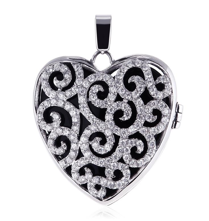 Kagi Jewellery, Splendor Pendant, Black Insert, Birds of Paradise Collection