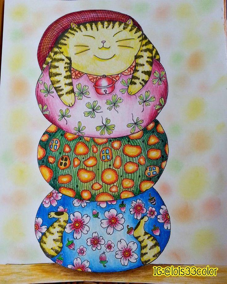 My Lazy Saturday Cats Book A Million Adultcolouringbook Adultcoloringbooks Coloringbookforadults Colorful Color Coloringforadults Coloring