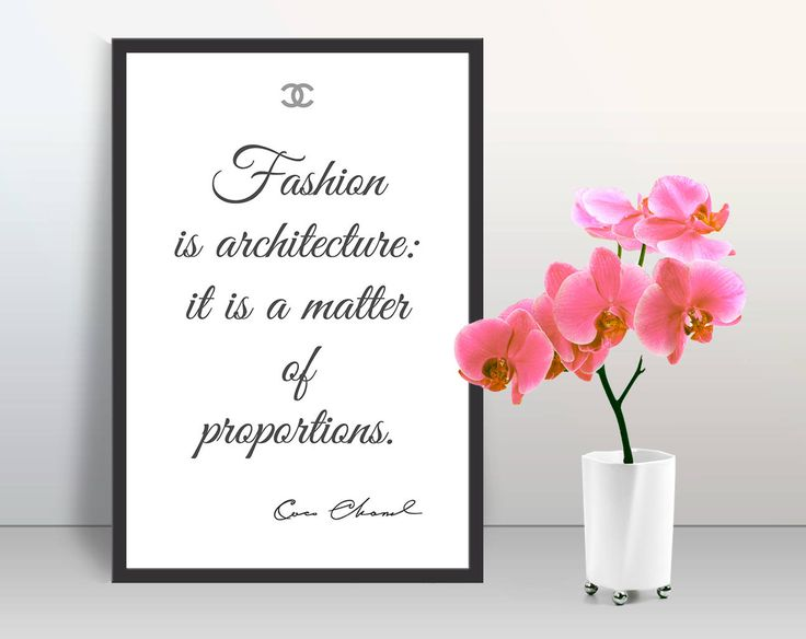 Coco Chanel motivation quotes art poster modern wall home decor pearl paper print trendy cubicle glam decor minimalist wall art Gift for her by GecleeArtStudio on Etsy