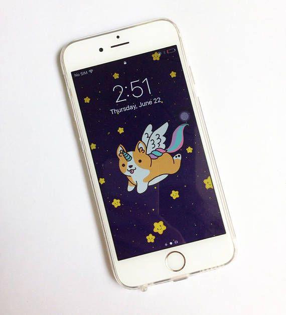 Caja del teléfono del Unicornio iPhone 6 caso claro caso