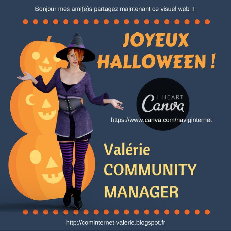 lundi 31 octobre #Halloween 2016 veille de la #Toussaint, #sorcières, #zombies et #vampires sont de sortie pour Halloween. L'occasion de se faire peur et de s'offrir le plein de #bonbons... (naviginternet@orange.fr) Contactez-moi !!   Bienvenue sur mon BIG DATA CV :  (( http://cominternet-valerie.blogspot.fr ))