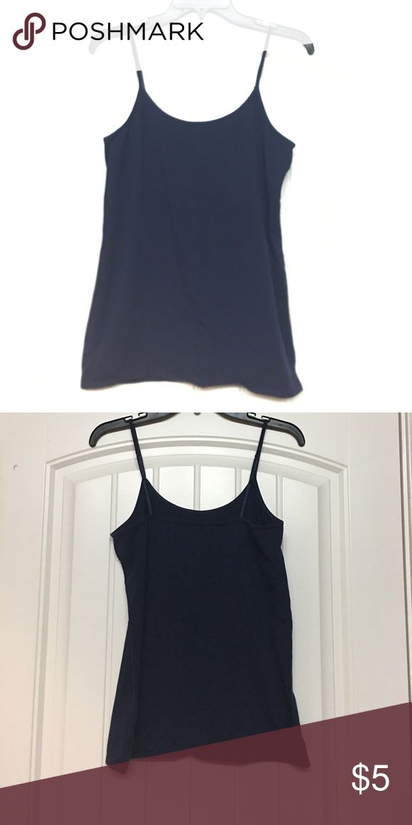 Old Navy Maternity cami EUC. I'm not sure that I ever wore this but in any case it's in perfect condition. Dark blue maternity cami with adjustable straps. A must for any closet! Old Navy Tops Camisoles