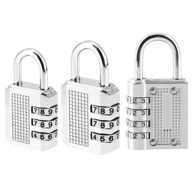 3 Digit Combination Padlock With Password Zinc Alloy Password Security Coded
