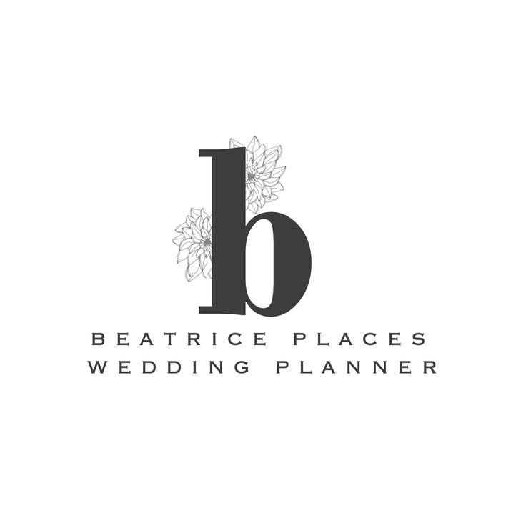 Logo iniciales con flores pintadas a mano, Logotipo floral inicial nombre, Logo prediseñado flores, marca de agua, logo personalizado #logo #weddingplanner #florallogo
