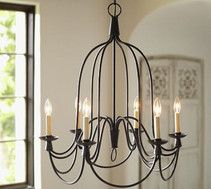 Pottery Barn - Fall Preview 2016 - Armonk Chandelier, 6-Arm, Dark Bronze finish