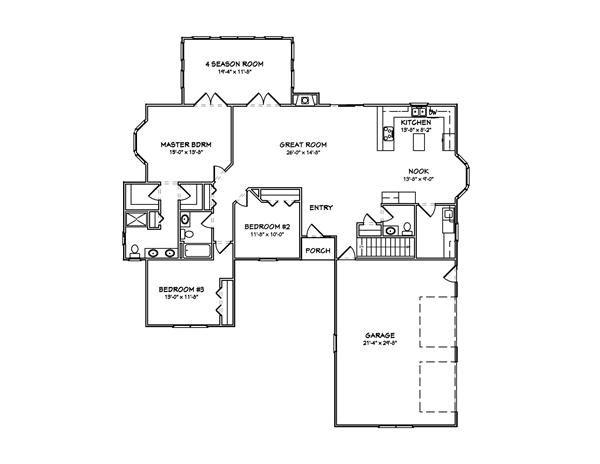 Floor Plan First Story | Passive Solar House | Pinterest