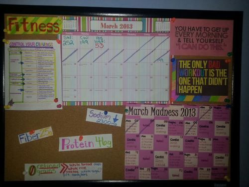 Weight Loss Inspiration Board....gonna take this and change it up to my Running Board :)