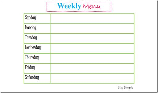 Search results for weekly meal planner template for Dinner menu template for home