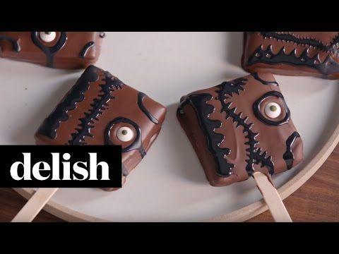 How to Make Hocus Pocus S'mores Pops Video.  Smores, cake, Halloween treats.