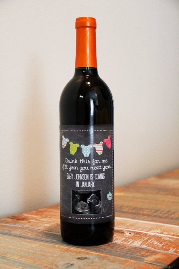 Annonce de la grossesse, bébé annonce étiquette de bouteille de vin, étiquette de vin personnalisée grossesse, dire Parents enceintes avec étiquette de vin