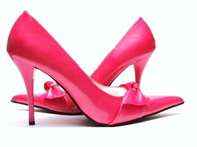 Pink High Heels with Bow