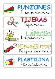RECURSOS DE EDUCACION INFANTIL: ETIQUETAS
