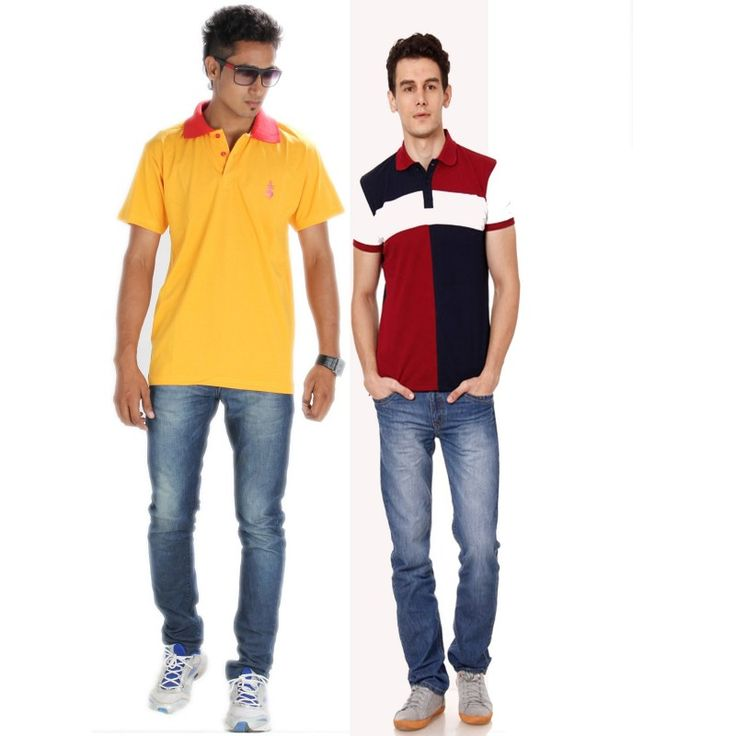 Posh 7 Maroon & Yellow combo of 2 Polo T Shirts #onlineshopping http://goo.gl/QjkvYr