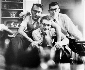 William Burroughs, Allen Ginsberg & - I think - Lucien Carr