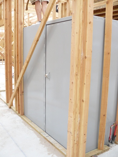 Metal safe room for garage safe room pinterest safe for Garage safe room