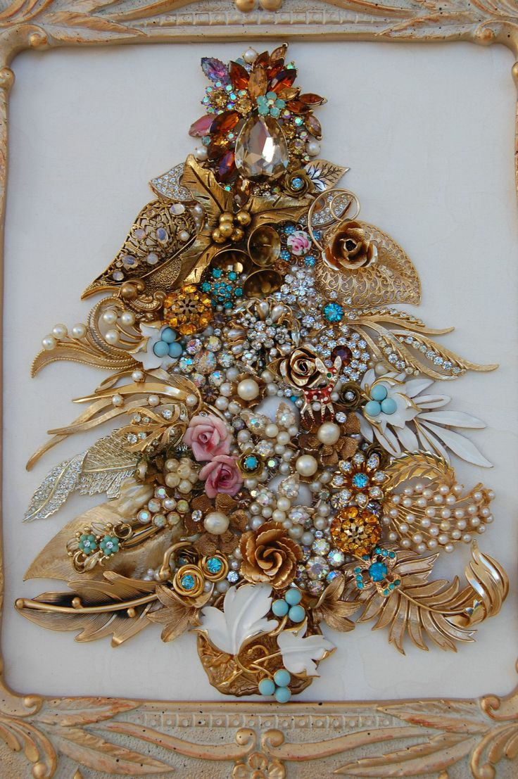 106 Best Broken Jewels Art Images On Pinterest Vintage