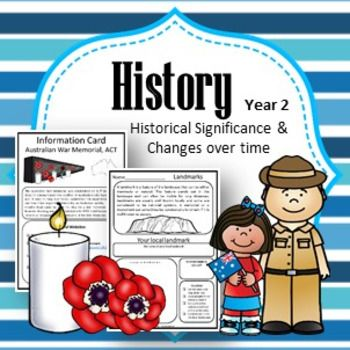 Contained in this pack is EVERYTHING you need to teach Year 2 History to meet the Australian Curriculum Standards (ACARA) V8.3 such as:What aspects of the past can you see today? What do they tell us?What remains of the past are important to the local community?